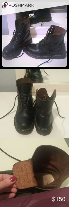 Made in England genuine leather docs! Made in England official Doc Martens. Worn a handful of times at most. Still require a lot of breaking in. Tiny scuff on toes. doc martens doc martens Shoes Combat & Moto Boots
