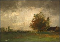 John Francis Murphy A Storm, 1898 (Oil on canvas, 10 x 13 inches) Spanierman Gallery, NYC