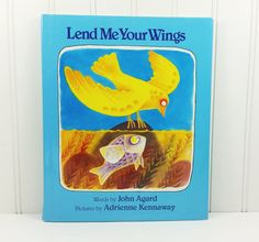 Lend Me Your Wings by John Agard, 1987 First US Edition, Bird and Fish Change Places by naturegirl22 on Etsy
