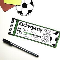 Fußballgeburtstag Einladung zur Kickerparty www.limmaland.com