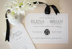 modern cosmopolitan wedding stationery | black, white, and blush | styled shoot by k. austin