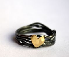 Nested Heart Ring in Sterling Silver  Rachel Pfeffer Designs