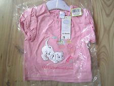 DISNEY FUR DOG 101 DALMATIONS TOP T-SHIRT VEST PINK 3-6-9-12-18 MONTH BABY GIRLS