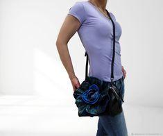Купить Эксклюзив. Кожаная сумка-цветок. Новинка - подарок на день рождения, сумка с декором