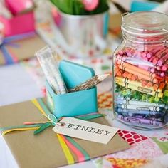 Wedding Idea of the Day! A separate kids table at your wedding will help to keep all children entertained. Crayons, colouring books and boxes of creative goodies are the perfect idea!