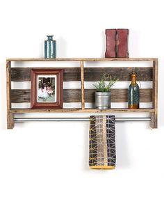 DelHutson Designs Barnwood Shelf with Towel Rack | zulily