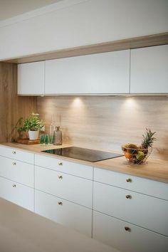 Kitchen Room Design, Kitchen Cabinet Design, Modern Kitchen Design, Home Decor Kitchen, Interior Design Kitchen, Kitchen Furniture, Home Kitchens, New Kitchen, Modern Kitchen Interiors