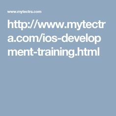 http://www.mytectra.com/ios-development-training.html