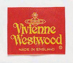 Via @jubaloo_ : Vivienne Westwood label. Logo designed using customized Raphael font.