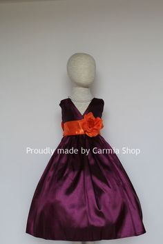 purple and orange wedding theme | Girl Dresses - PURPLE PLUM with Orange Burnt (VN) - Easter Wedding ...