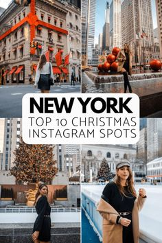 It's the most wonderful time for the best photo spots in New York City during Christmas time. I mapped out the 10 best NYC Christmas Instagram Spots. New York Winter, Winter In Nyc, New York City Christmas, Christmas Tree, Christmas Ideas, New York Weihnachten, Nyc Instagram, Instagram Travel, New York Photography