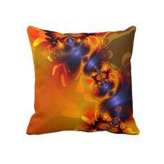 Orange Eyes Aglow – Gold  Violet Delight Pillow