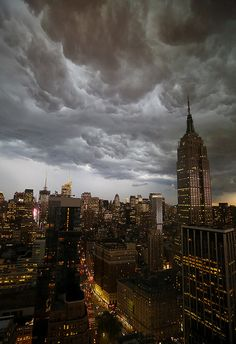 STORM over Empire State Building, NYC   by Lisa Bettany