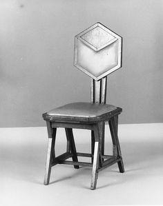 Side Chair   Designer: Designed by Frank Lloyd Wright (American, Richland Center, Wisconsin 1867–1959 Phoenix, Arizona)   Manufacturer: Manufactured by Matsu-Zukaya Company   Date: ca. 1922  Geography: Kanto, Tokyo, Japan  Culture: American  Medium: Oak, caning  Dimensions: 37 3/4 x 15 3/4 x 17 1/4 in. (95.9 x 40 x 43.8 cm)  Classification: Furniture