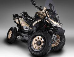 Le concept Quadro Big Q est un scooter à 4 roues aux prétentions Off-Road