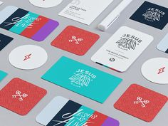Some Easter branding for @The Rock Church Creative , fun play with vector, colors and custom type. Started this last Easter and now polished it this year! Check details. Jesus is Alive
