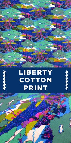 Colorful Jungle Scene Liberty of London Cotton Lawn Print