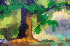 "Shade oil 4 x 6"" © Mary Bentz Gilkerson"