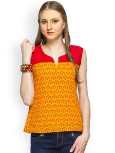 100% COTTON SLEEVELESS YELLOW PRINTED BODY WITH SOLID YOKE DETALING TOP - See more at: http://www.namakh.com/FUSION-TOP/YELLOW-PRINTED-TOP-id-1172093.html#sthash.Iv3nqSBo.dpuf