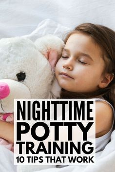 Helping your child master daytime potty training is challenging at the best of times, but teaching them to stay dry at night is a different beast altogether. Thankfully, this list of nighttime potty training tips breaks the process down and provides great Potty Training Rewards, Toddler Potty Training, Training Tips, Potty Training Night Time, Kids Potty, Toilet Training, Kids And Parenting, Parenting Tips, Stress Free