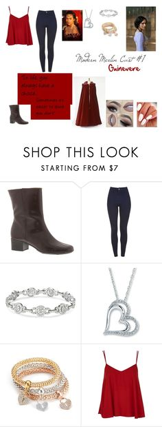 """Modern Merlin Cast #1: Gwen"" by bigheadtessa on Polyvore featuring Topshop and modern"