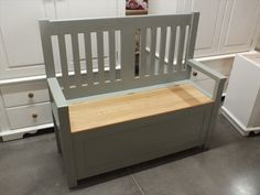 4ft Painted Slat-Back Monks Bench with Solid Oak Seat- F&B Pigeon Buy online