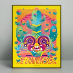 Discover more about Chainsmokers Milwaukee 2019 (Show Edition) Chainsmokers, Concert Posters, Music Bands, Milwaukee, Screen Printing, Artist, Painting, Design, Screen Printing Press