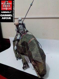 Noturno  Sukhoi: Star Wars Dewback Troopers_Papercraft
