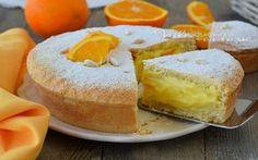 Torta della nonna con crema alle arance una ricetta profumata, golosissima, ottima a colazione e merenda, con tanto succo di arance
