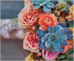 Bouquet de noiva com suculentas