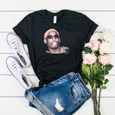 Dennis Rodman Vintage t shirt Dennis Rodman, Casual T Shirts, Comfortable Outfits, Direct To Garment Printer, Shirt Style, Shirt Designs, Graphic Sweatshirt, Sweatshirts, Bill Murray