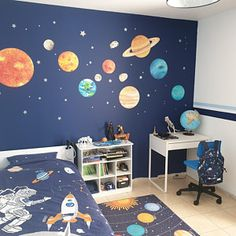 Solar system wall stickers  Space wall sticker planet wall | Etsy