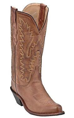 Old West Jama® Ladies Classic Tan Handcrafted Western Boots | Cavenders Boot City