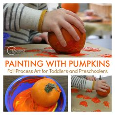 Easy Pumpkin Painting for Toddlers and Preschoolers