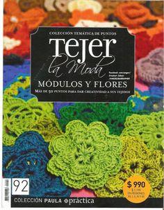 """BOOK: """"Tejer modulos y Flores"""" crochet book in Spanish. Motifs with diagrams Crochet Diagram, Crochet Motif, Diy Crochet, Crochet Patterns, Moda Crochet, Simple Crochet, Thread Crochet, Flower Patterns, Knitting Magazine"""