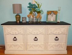 gorgeous shabby chic dresser with drawers looks like cabinets https