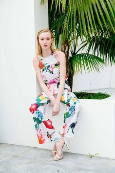 Sarah Jane Knapp, Cactus Floral Jumpsuit via Temper Collective