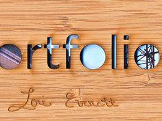 wood portfolio cover