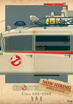 Ecto-1 part II of III by Staermose Posters (Ghostbusters)