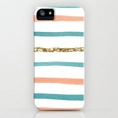 Sparkle Stripe iPhone Case by Social Proper