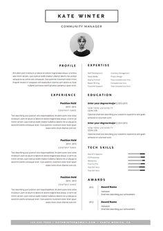 Minimalist Resume Template & Cover Letter Icon por OddBitsStudio