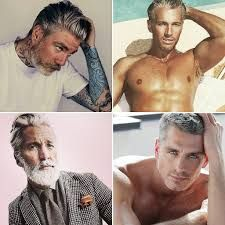 Hot grey haired men