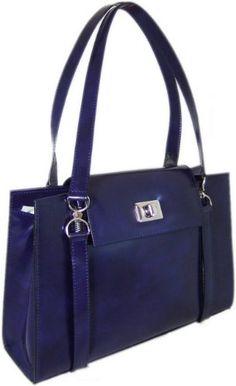 Pratesi 32cm 'Beato Angelica' Leather Briefpurse in Dark Violet Brunelleschi ...