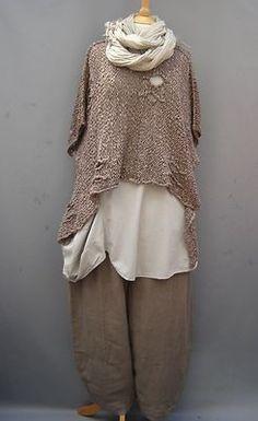 La Bass~ TAUPE  ~ Linen Tulip Trousers~ Sizes 2 & 3