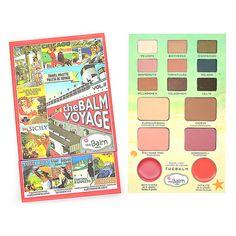 New Arrive The Balm Cosmetics Makeup Multi-function Eyeshadow Palette Eye Shadow+Blusher+Lipsticks Balm Voyage Vol.2 Make Up Kit