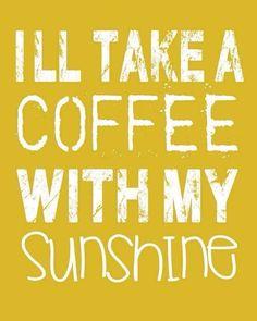 coffee + sunshine