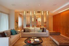projeto Paula Neder - divisoria com design, iluminacao arquitetura de interiores