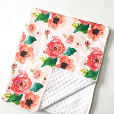 Hey, I found this really awesome Etsy listing at https://www.etsy.com/listing/263933521/floral-dreams-crib-blanket-baby-blanket