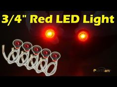 """3/4"""" Red Round Side Marker LED For Truck Trailer Boat Review