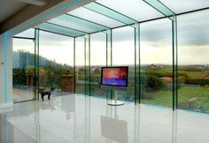 Adept Concepts UK works in close partnership with GlassRooms to provide a specialist elite service for the design, supply and installation of bespoke glass solutions. Glass Roof Extension, Conservatory Extension, Glass Conservatory, House Extension Design, Fibreglass Roof, Glass Structure, Glass Room, Glass Boxes, House Extensions